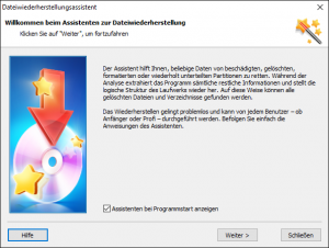 Hetman Partition Recovery: Assistent