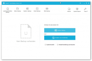 EaseUS Todo Backup Home - Start