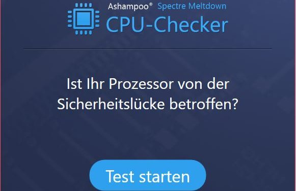 Ashampoo® Spectre Meltdown CPU Checker