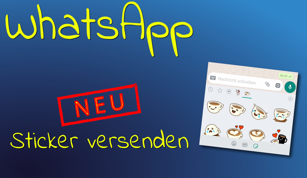 Sticker bei WhatsApp