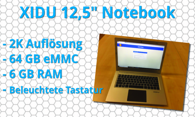 XIDU 12,5 Zoll Notebook WQHD (2560*1440)